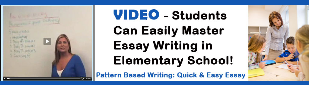 Pattern based writing quick and easy essay