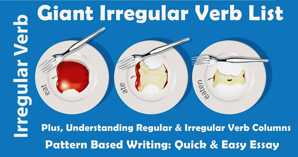 giant irregular verb list  u2013 plus  understanding regular