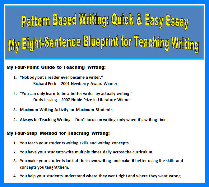 My Eight-Sentence Blueprint for Teaching Writing
