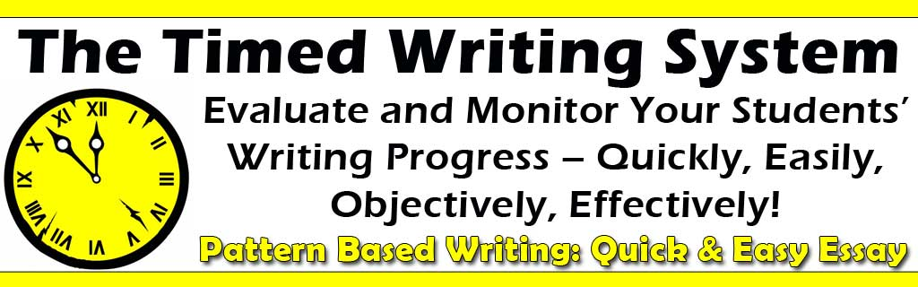 Timed Writing System: Evaluate Student Writing Growth and Achievement Objectively
