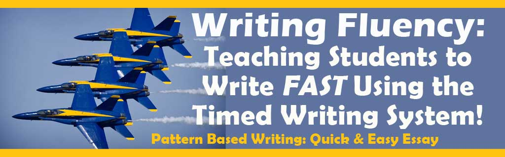 Writing Fluency: Teaching Children to Write FAST Using the Timed Writing System